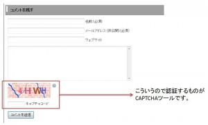 CAPTCHAツール説明