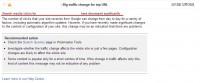 Big traffic change for top URL 検索トラフィックが大幅に減っている場合